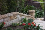 Sandstone wall with saddleback capping - Linden Way Castlecrag