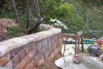 Ironstone wall with saddleback capping - Linden Way Castlecrag