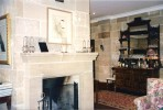 Sandstone fireplace - Capers Guest House Wollombi